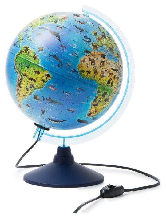 Глобус Земли зоологический с подсветкой d=25 см Globen Ке012500270