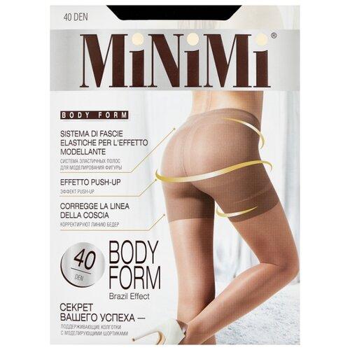 Колготки MiNiMi Body Form 40 den, размер 2-S/M, nero (черный) колготки minimi control top 40 den размер 2 s m nero черный