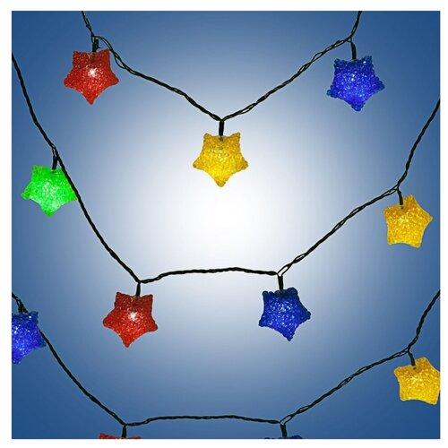 цена на Гирлянда SNOWMEN Звезда-кристалл 341 см, 20 ламп, разноцветный/зеленый провод