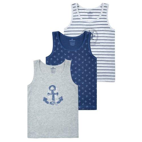 Купить Майка BAYKAR 3 шт., размер 4, серый/синий, Белье и пляжная мода