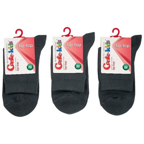 Купить Носки Conte-kids комплект 3 пары размер 22, темно-серый