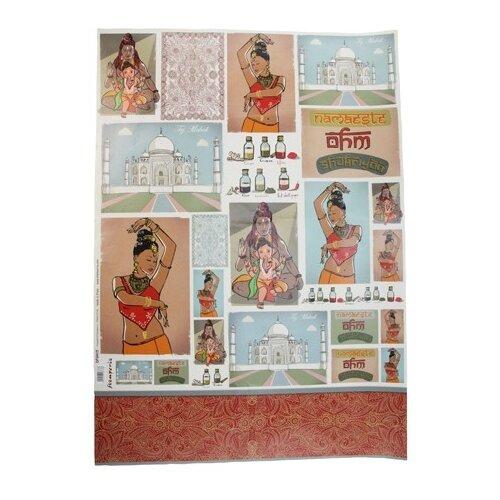 Купить Карта для декупажа Индия 50 х 70 см 1 лист, Stamperia, Карты, салфетки, бумага