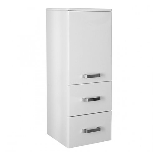 Шкаф-пенал для ванной Mixline Стив-34, (ШхГхВ): 34х31.6х90 см, белый