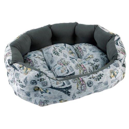 Лежак для собак и кошек Fauna International Paris 62х46х18 см grey