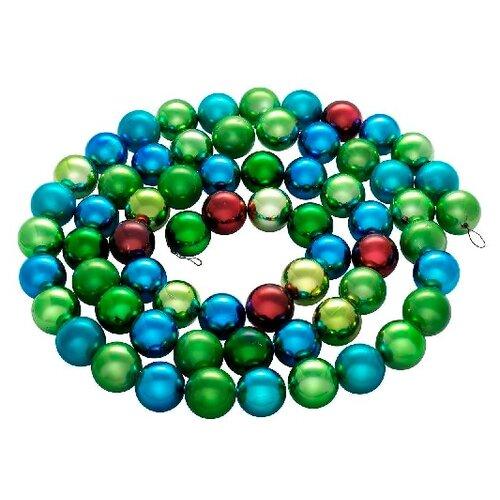 Гирлянда SNOWMEN из шариков ЕК0179, 250 см, зеленый/синий