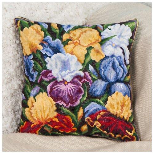 Купить PANNA Набор для вышивания Подушка Радужные ирисы 30 х 30 см (PD-1633), Наборы для вышивания