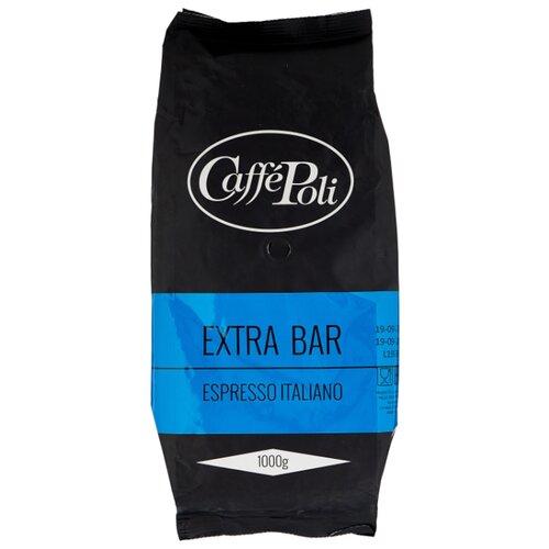 Кофе в зернах Caffe Poli Extrabar, арабика/робуста, 1000 г кофе в зернах piazza del caffe