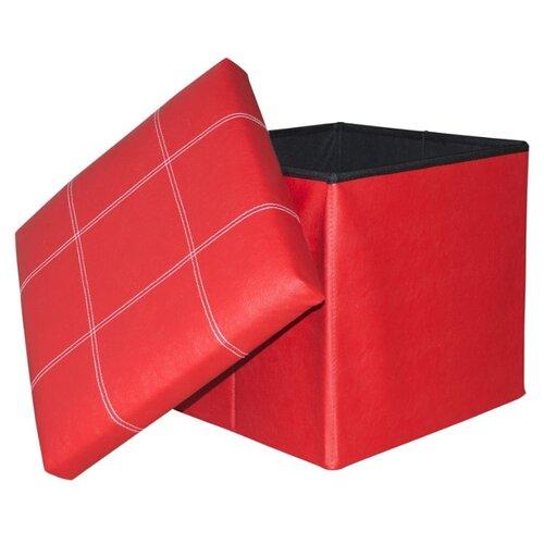 Пуфик с ящиком для хранения Удачная покупка RYP56-38 искусственная кожа красный