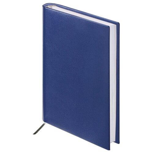 Купить Ежедневник BRAUBERG Select недатированный, искусственная кожа, А6, 160 листов, темно-синий, Ежедневники, записные книжки