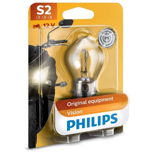 цена на Лампа автомобильная галогенная Philips Vision 12728BW S2 12V 35/35W 1 шт.