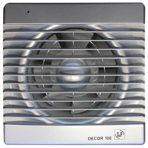 Вытяжной вентилятор Soler & Palau DECOR 100 C, silver 13 Вт цена 2017