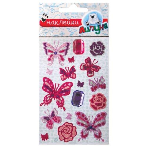 Купить Липуня Набор блестящих наклеек Бабочки (JGS008), Наклейки