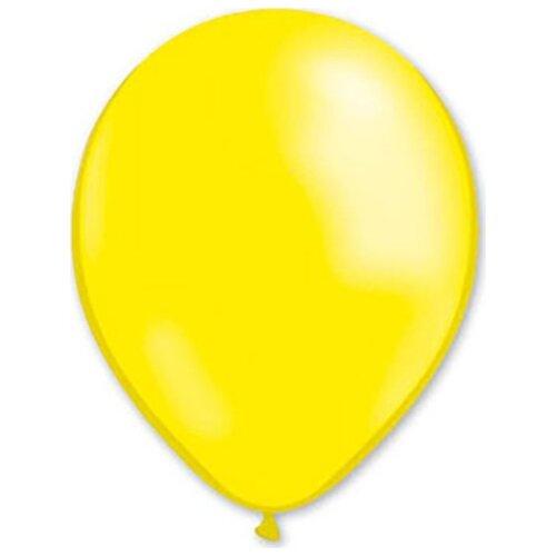 Набор воздушных шаров MILAND Металлик 31 см (100 шт.) лимонно-желтый