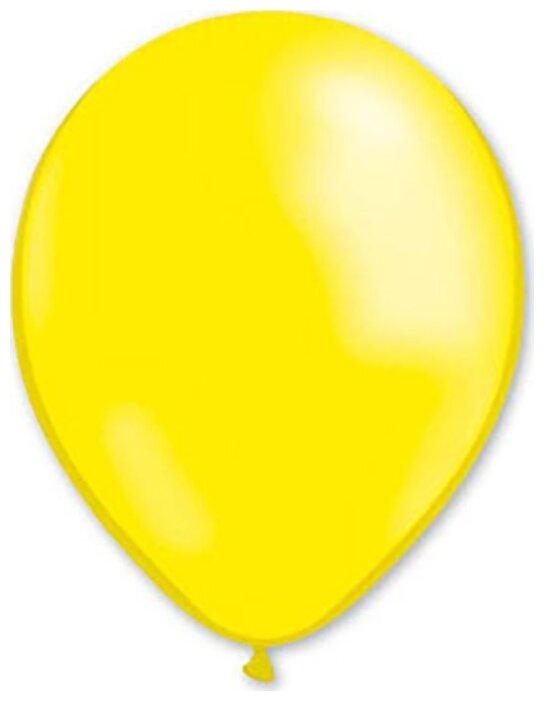 """Воздушные шары """"Металлик"""", черные, 100 штук, 31 см"""