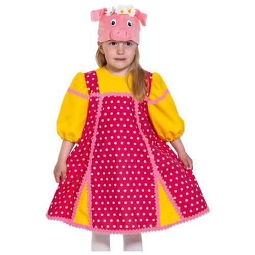 Купить Костюм КарнавалOFF Сказочный теремок Свинка Фрося (8054), красный/желтый, размер 98-128, Карнавальные костюмы