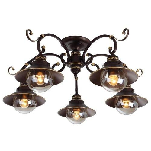 Люстра Arte Lamp Grazioso A4577PL-5CK, E27, 300 Вт люстра arte lamp grazioso a4577pl 5ck 5 e27 60вт 230в металл крашеный шоколад