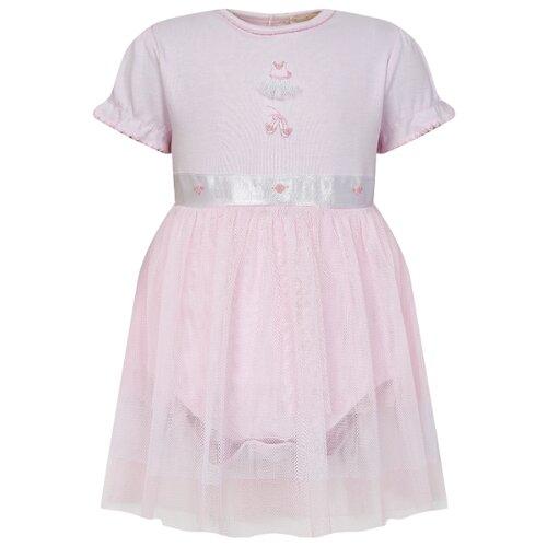 Платье-боди KISSY KISSY размер 74, розовый