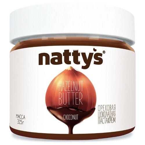 Nattys Шоколадная ореховая паста-крем Choconut с какао и мёдом 325 г король орех паста крем ореховая из фундука 200 г