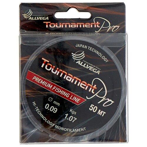 Монофильная леска ALLVEGA Tournament Pro прозрачный 0.09 мм 50 м 1.07 кг