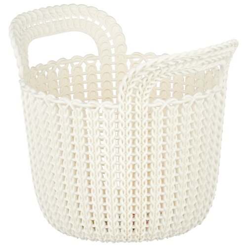 Фото - CURVER Корзина круглая Knit XS 23x19x19см белый корзина для хранения curver knit 3 л прямоугольная голубой