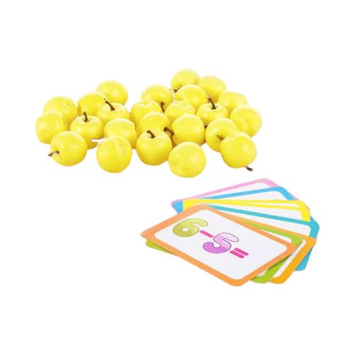 Купить Счетный материал IQ-ZABIAKA Решаем примеры : яблоки 3868661 желтый, Обучающие материалы и авторские методики