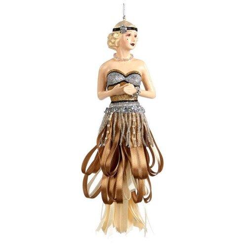 Елочная игрушка Goodwill Леди Гэтсби 23.5 см (B 95554) коричневый.