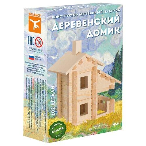 Конструктор Model Toys Из бруса Деревенский домик