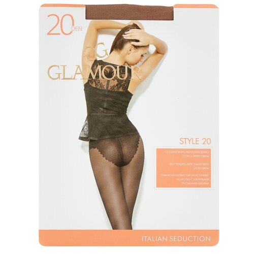 Колготки Glamour Style 20 den, размер 5-XL, miele (бежевый) колготки glamour style 5 20 den медный