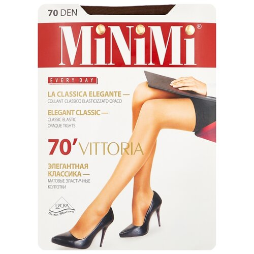 Колготки MiNiMi Vittoria 70 den, размер 4-L, cappuccino (коричневый) колготки minimi vittoria 20 den размер 5 xl cappuccino коричневый