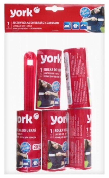 York набор ролик для одежды и 4 запасных блока, 20 листов