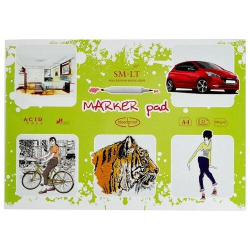 Купить Альбом для маркеров Smiltainis Marker pad 29.7 х 21 см (A4), 100 г/м², 25 л., Альбомы для рисования