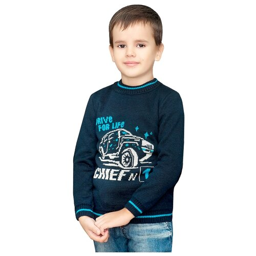 Фото - Джемпер Golden Kid`s Art размер 140, темно-синий юбка oodji ultra цвет темно синий 14101080 33038 7900n размер s 44