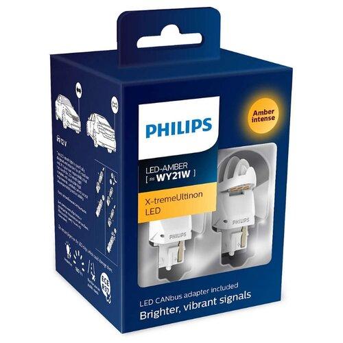 Фото - Лампа автомобильная светодиодная Philips X-tremeUltinon LED gen2 11065XUAXM WY21W 2 шт. лампа автомобильная светодиодная philips ultinon led 11972ulwx2 led hl [h7] 14w 2 шт
