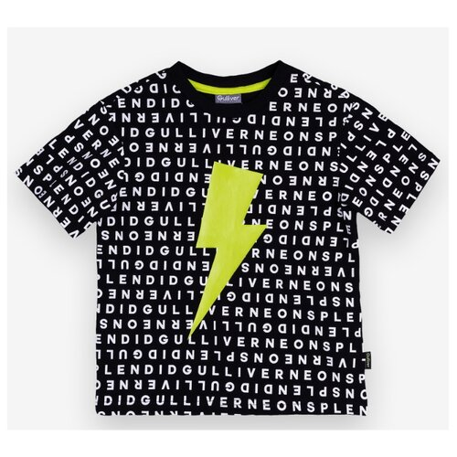 Футболка Gulliver размер 104, черный футболка gulliver размер 104 красный