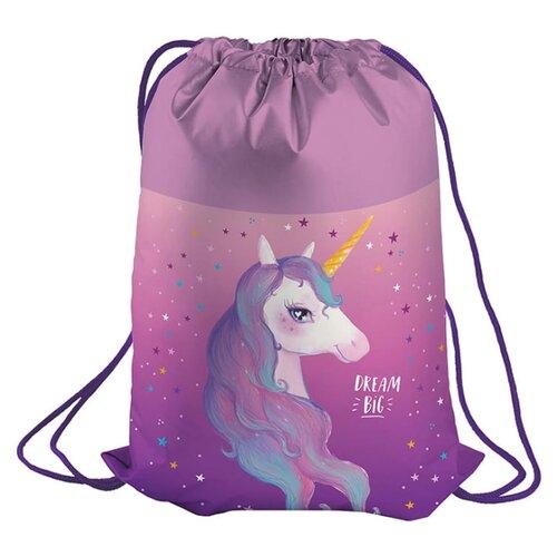 Купить Berlingo Мешок для обуви Dream Unicorn (MS09230) фиолетовый, Мешки для обуви и формы