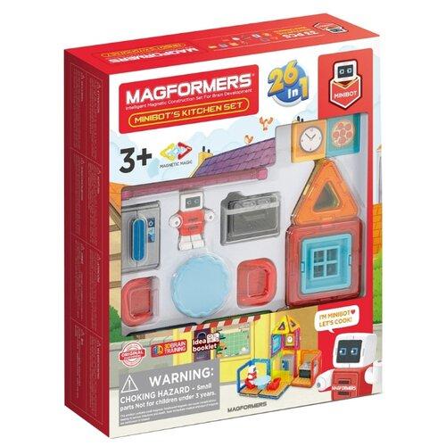 Купить Магнитный конструктор Magformers Minibot 705010 Кухня Минибота, Конструкторы