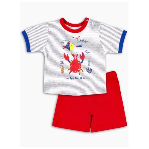 Фото - Комплект одежды Веселый Малыш размер 74, серый/красный комбинезон веселый малыш размер 74 серый