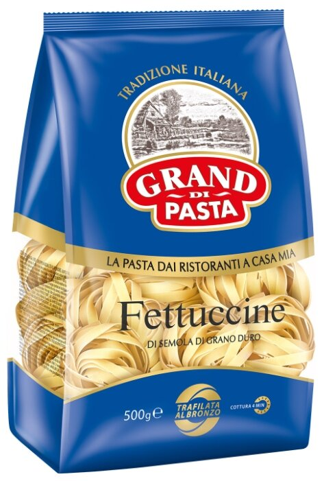 Купить Grand Di Pasta Макароны Fettuccine, 500 г по низкой цене с доставкой из Яндекс.Маркета (бывший Беру)