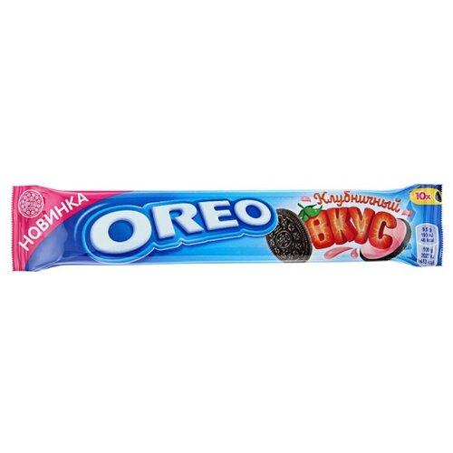 Печенье Oreo с какао и начинкой со вкусом клубники, 95 г
