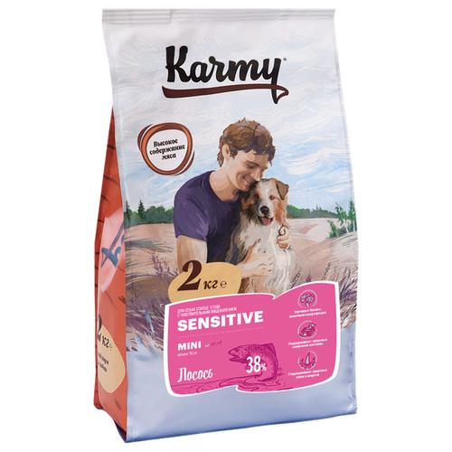 Сухой корм для собак Karmy для здоровья кожи и шерсти, лосось 2 кг (для мелких пород) сухой корм для собак karmy для здоровья кожи и шерсти лосось 2 кг