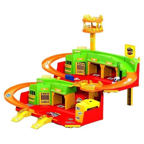 Купить Нордпласт Hot Wheels 431229 желтый/зеленый/оранжевый/красный, Детские парковки и гаражи