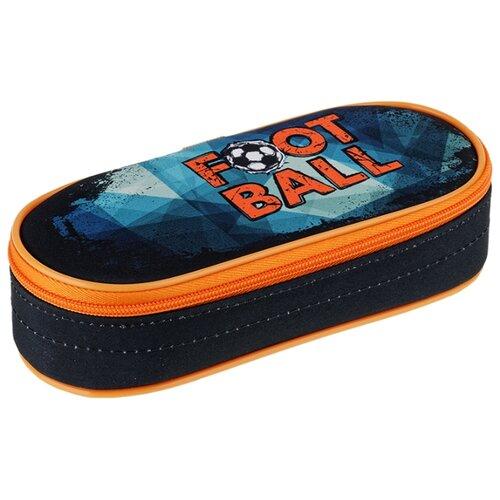 Купить Berlingo Пенал Football (PM04622) черный/оранжевый, Пеналы