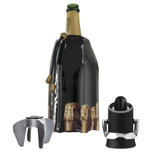 Набор аксессуаров VacuVin Champagne Accessory Set черный/серебристый