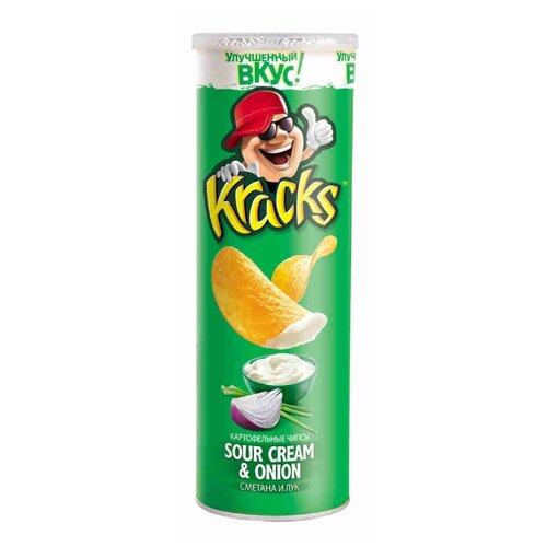 Чипсы Kracks картофельные Сметана-Лук, 160 г