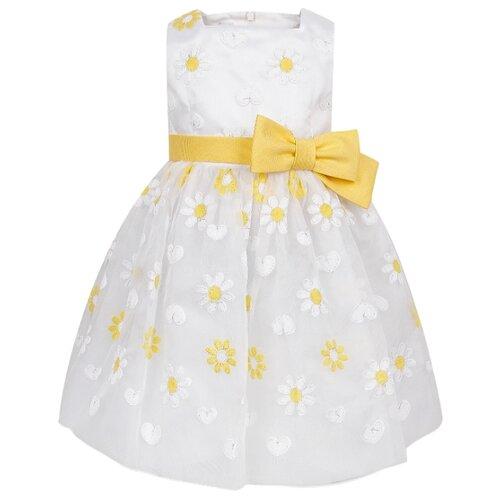 Платье ColoriChiari размер 110, белый/желтый/цветочный принт