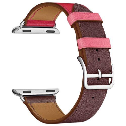 Lyambda Кожаный ремешок Maia для Apple Watch 42/44 mm burgundy/hot pink/pink wokka watch q360 pink