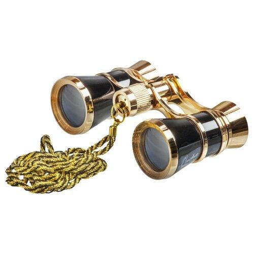Фото - Бинокль Veber Opera БГЦ 3x25 с цепочкой черный/золотой бинокль театральный veber opera бгц 3x25 красно золотистый с цепочкой
