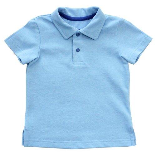 Поло Наша мама, размер 116, голубой/синий