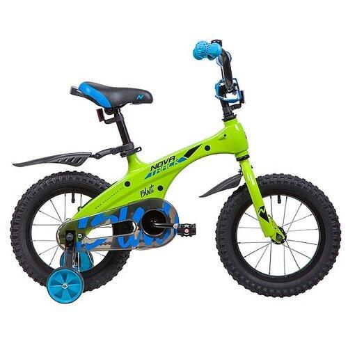 Детский велосипед Novatrack Blast 14 (2019) зеленый (требует финальной сборки) детский велосипед novatrack vector 18 2019 серебристый требует финальной сборки