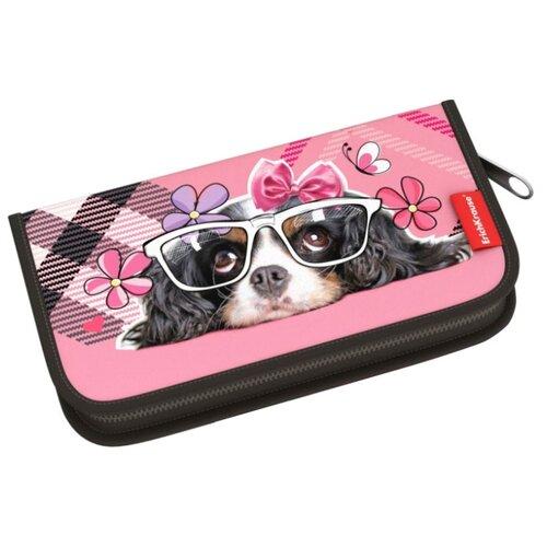Купить ErichKrause Пенал-книжка Clever Dog (44938) розовый, Пеналы
